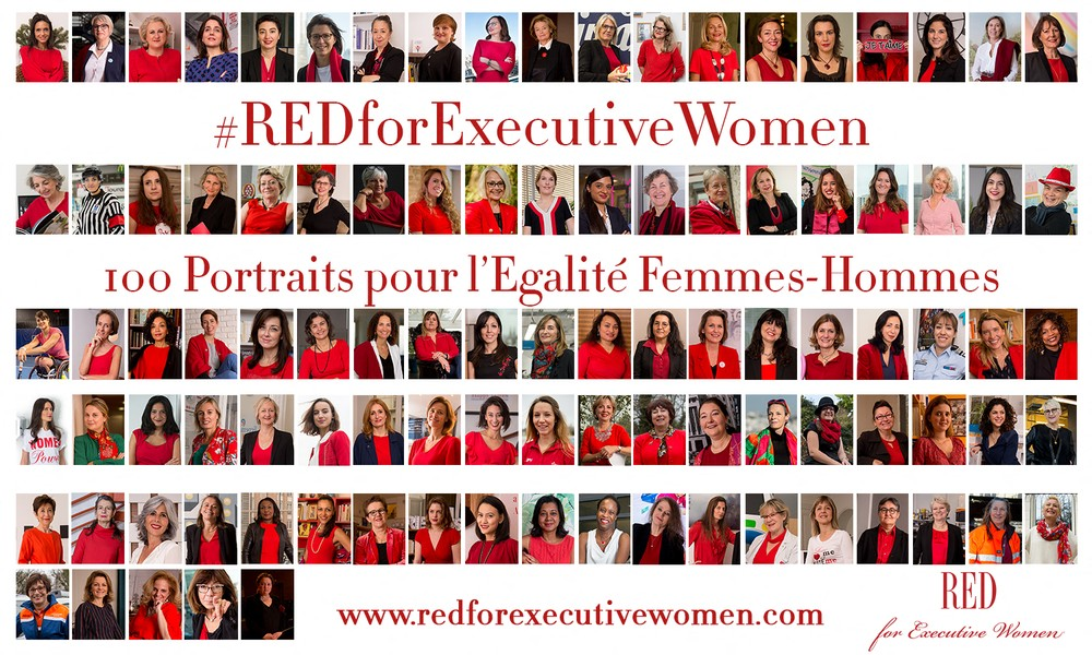Gaël Dupret - RED for Executive Women - ©Gaël Dupret, France, Suresnes le 05-03-2018 : RED for Executive Women Photo : Portrait des 100 Executive Women qui ont participé au projet R... - protected by IMATAG