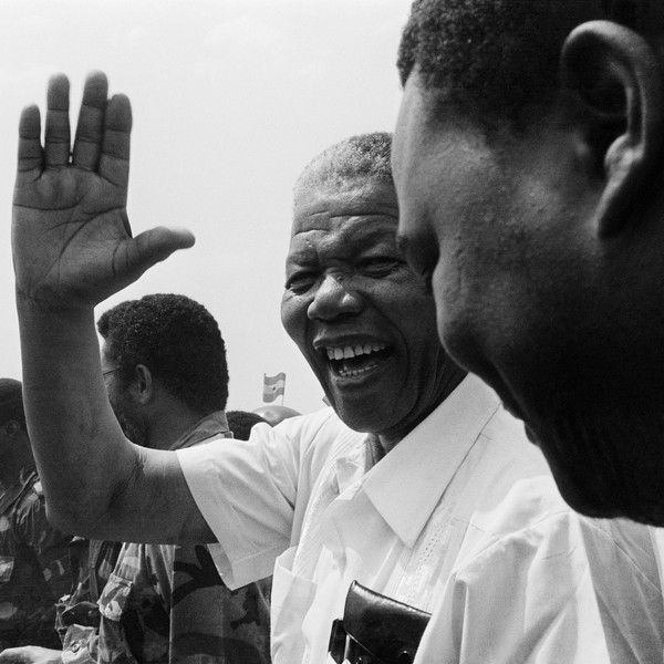 copyright Thierry Secretan - Nelson Mandela - Nelson Mandela in Ghana in 1991 - protected by IMATAG