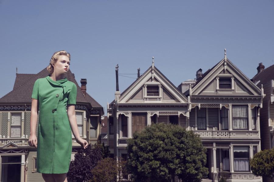 Amandine BESACIER - Sister's House - Portrait of Hannah Dugan, American model. Portrait de Hannah Dugan, modèle Americaine.San Francisco - protected by IMATAG
