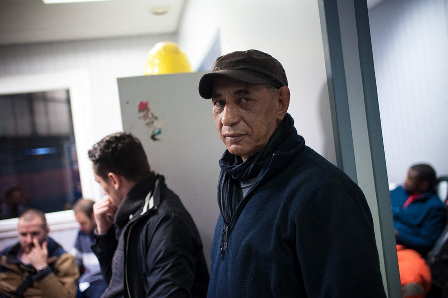 Julien Hazemann - THE OLD TRAIN WORKER - A railway worker. He has worked at the SNCF, the national railway company, for forty years. He supports the strike, and he participated to se... - protected by IMATAG