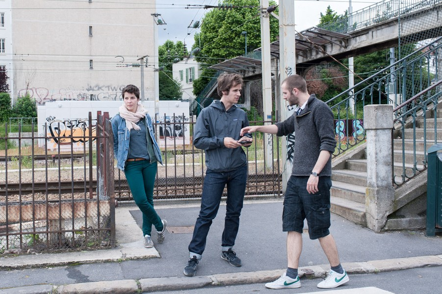 Julien Hazemann - STHE STRIKERS AFTER THE STRIKE - Even if the strike is over, Pauline, Bastien and Arnaud keep seeing each others and to fight together. No mater if they don't belong to the s... - protected by IMATAG