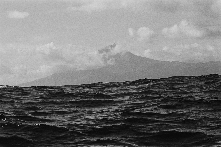 Thierry Secretan - The volcano Pico, Azores, Portugal - The volcano Pico, in the Azores, Portugal is the highest in the Atlantic ocean (2400m). It is seen here from the South. - protected by IMATAG