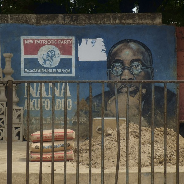 Thierry Secretan - MURAL OF NANA AKUFO-ADDO, CANDIDATE OF THE 2008 PRESIDENTIAL ELECTION IN GHANA. NANA AFUFO-ADDO, CANDIDAT À L'ÉLECTION PRÉSIDENTIELLE EN 2008... - Nana Akufo Addo was already the NPP candidate for the 2008 elections challenging John Atta Mills the NDC candidate.Nana Akufo Addo était déjà... - protected by IMATAG