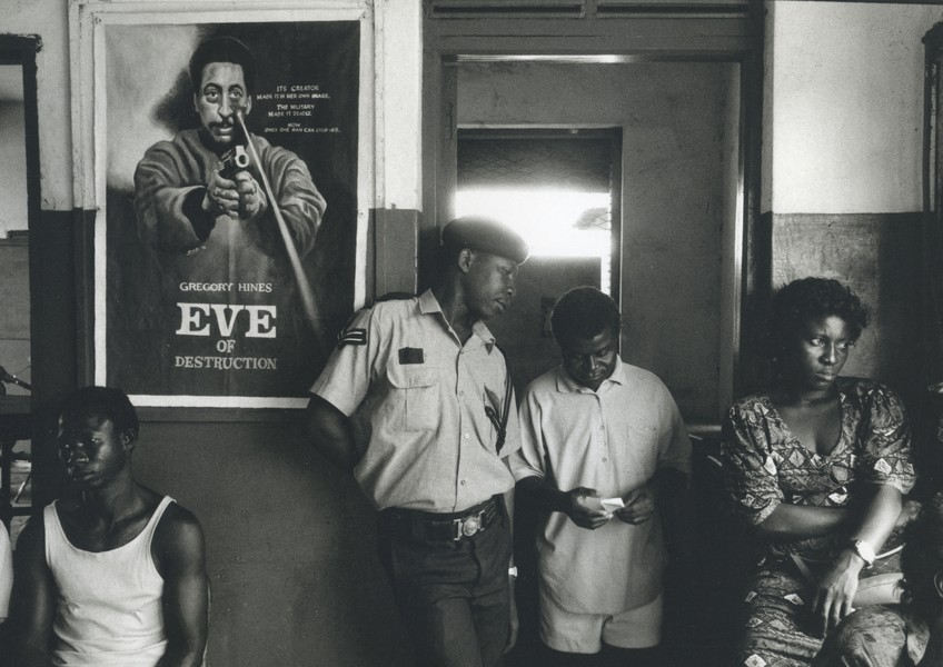 Thierry Secretan - GHANA POLICE STATION - Labadi police station on election day in 2000 - protected by IMATAG