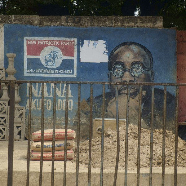 Thierry Secretan - MURAL OF NANA AKUFO-ADDO, CANDIDATE OF THE 2016 PRESIDENTIAL ELECTION IN GHANA. NANA AFUFO-ADDO, CANDIDAT À L'ÉLECTION PRÉSIDENTIELLE DE 2016... - protected by IMATAG