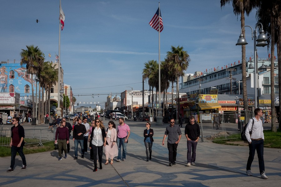 © Thierry Secretan - Los Angeles 2017 - French American Creative Lab on a Venice Beach Tour. - protected by IMATAG