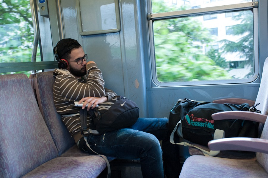 Julien Hazemann - MALIK GOES BACK TO HOME TOWN - Malik is from Rouen, a city in the west of France. He started his carrier as a railway worker there, and he has been transferred in Paris wit... - protected by IMATAG