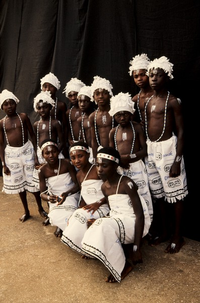 Thierry Secretan - Traditionnal children band - Children Kpalogo band in Accra, Ghana - protected by IMATAG