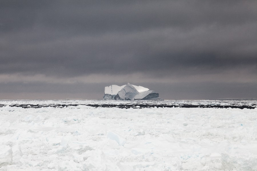 Francois Lepage/IP3 - Antarctica suplly convoy for Dumont D Urville Base and Concordia Research Station - Francois Lepage / IP3; Southern Ocean, Antarctica on February 16  2013 -  Iceberg, in Dumont d Urville Sea. View from the deck of the French ... - protected by IMATAG