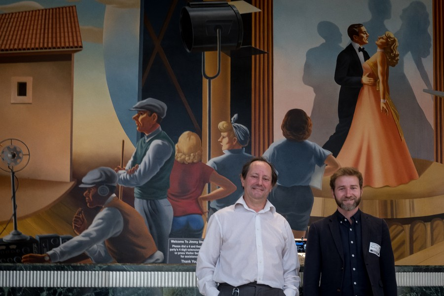 © Thierry Secretan - Los Angeles 2017 - Eric Diehl (left) CTO Sony Pictures with Mathieu Desoubeaux CEO Lamark - protected by IMATAG